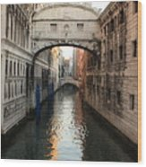 Bridge Of Sighs In Venice In Morning Light Wood Print