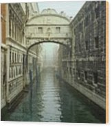 Bridge Of Sighs In Venice Wood Print