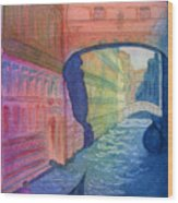 Bridge Of Sighs Venice Wood Print