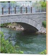 Bridge On The Niagara River Wood Print