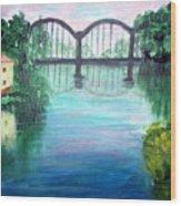 Bridge On The River Adda Wood Print