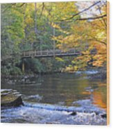 Bridge Over Big Cataloochoo Creek Wood Print