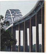 Bridge Over Delaware Chesapeake Canal Wood Print