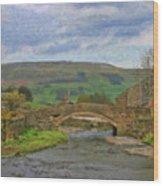 Bridge Over Duerley Beck - P4a16020 Wood Print