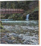 Bridge Over Hackleman Creek Wood Print