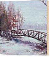 Snowy Span Wood Print
