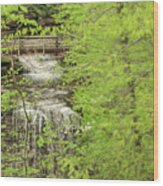 Bridge Over Little Clifty Falls Wood Print