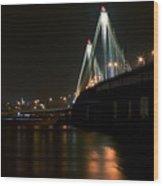 Bridge Over Mighty Miss Wood Print