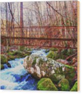 Bridge Over Mill Creek Wood Print