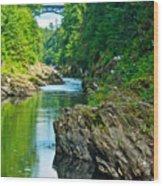 Bridge Over Quechee Gorge-vermont  Wood Print