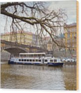 Bridge Over River Vltava Wood Print