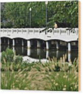 Bridge Over Silver Lake - Rehoboth Beach Delaware Wood Print