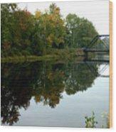 Bridge Over Still Waters Wood Print