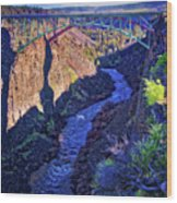 Bridge Over The Crooked River Gorge Wood Print