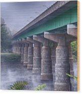 Bridge Over The Delaware River Wood Print