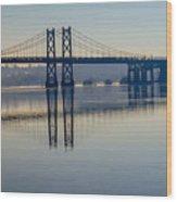 Bridge Over The Mississippi Wood Print