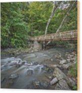 Bridge Over The Pike River Wood Print