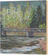 Bridge Over The Poudre Wood Print