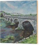 Bridge Over The River Laune, Killorglin Ireland Wood Print