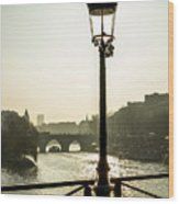 Bridge Over The Seine. Paris. France. Europe. Wood Print