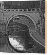 Bridge Over The Tiber Wood Print