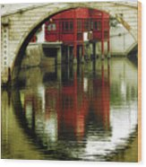 Bridge Over The Tong - Qibao Water Village China Wood Print
