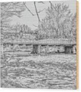 Bridge Over The Vermilion Wood Print