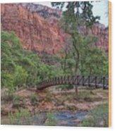 Bridge Over The Virgin River Wood Print