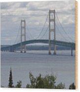 Bridge Over The Water Wood Print
