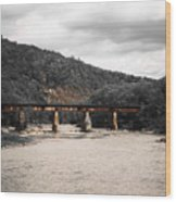 Bridge Over The Winooski Wood Print