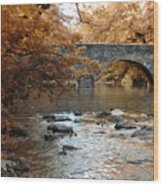 Bridge Over The Wissahickon At Valley Green Wood Print