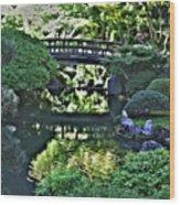 Bridge Over Tranquil Waters Wood Print