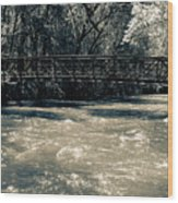 Bridge Over Water Wood Print