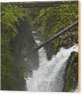 Bridge Over Water Wood Print