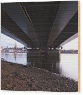 Bridge Over Wexford Harbour Wood Print