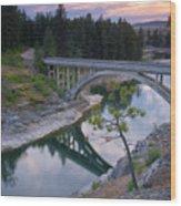 Bridge Reflection Wood Print