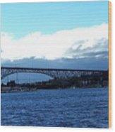 Bridge Sky Wood Print