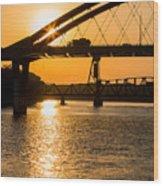 Bridge Sunrise 1 Wood Print