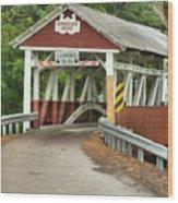 Bridge Through The Somerset Forest Wood Print