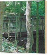 Bridge To Calm Wood Print