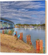Bridge To Cobb Island Wood Print