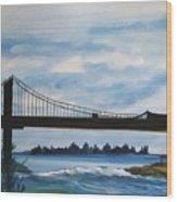 Bridge To Europe Wood Print