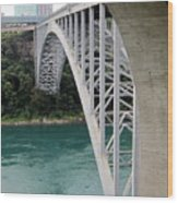 Bridge To New York Wood Print