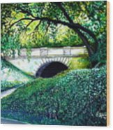 Bridge To New York Wood Print