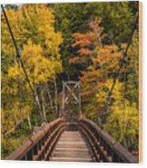 Bridge To Rainbow Falls Wood Print