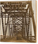 Bridge To Savannah Wood Print