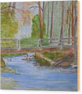 Bridge To Serenity   Smithgall Woods State Park Wood Print