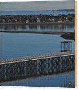 Bridge To Spinnaker Island Wood Print