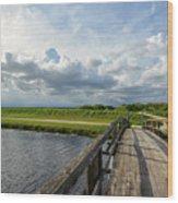 Bridge To The Bayou Wood Print