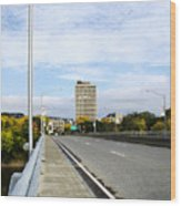 Bridge To The City Binghamton New York Wood Print
